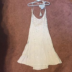 Free people blue sequin dress small NWT